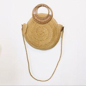 Woven crossbody bag Bamboo hobo beach clutch